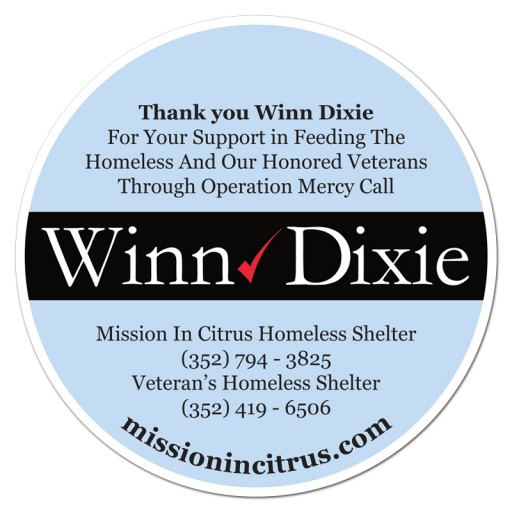 The Mission in Citrus Thanks Winn Dixie for Helping So Many in Need